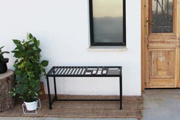 ספסל מברזל לגינה