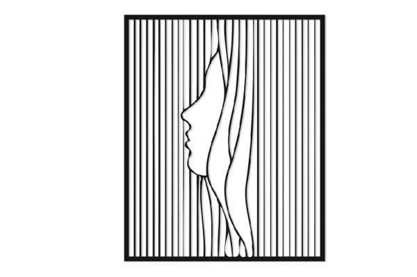 תמונת פנים של אישה בחיתוך לייזר