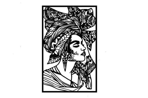תמונת אישה קובנית ממתכת
