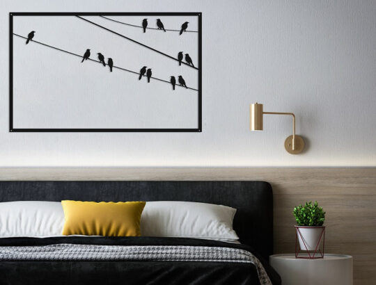 תמונת ציפורים ממתכת